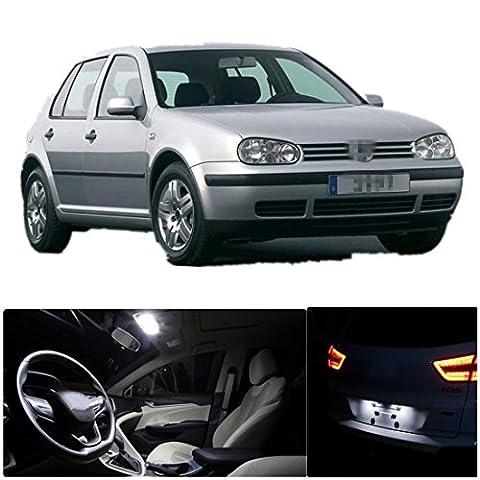 FEZZ 11pcs Kit Auto LED Ampoules Intérieur Blanc Canbus Sans Erreur pour MK4 VW Golf Jetta GTI 1999-2005