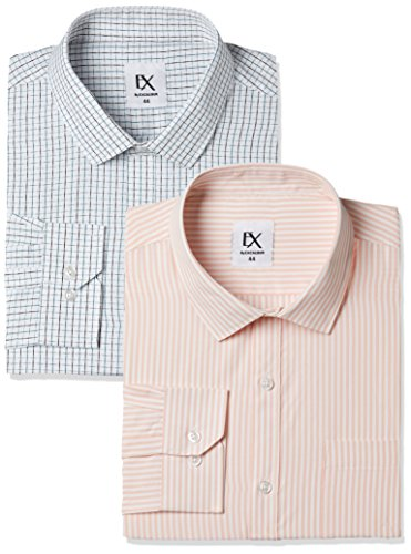 Excalibur by Unlimited Men's Solid Regular Fit Formal Shirt (Pack of 2) (275375557 ASSORTED 42)