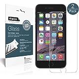iPhone 6 / 6S Schutzfolie, 2x dipos Glass Panzerfolie 9H Folie Kunststoffglas