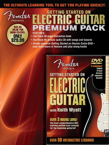 Fender Presents: Getting Started On Electric Guitar Premium Pack (Book CD & DVD Premier Pack)