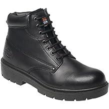 Dickies Antrim - Calzado de protección de cuero para hombre marrón marrón, color negro, talla 39.5 EU