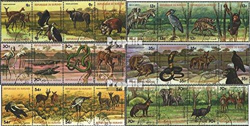 Prophila Collection Burundi 1355-1378 Viererstreifen (kompl.Ausg.) 1977 Tierwelt Afrikas (Briefmarken für Sammler) Säuger Sonstige -