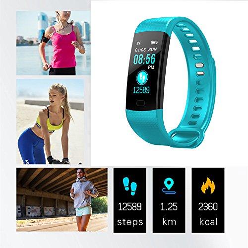 Miya System Ltd Smart Watch Telefon, Miya Y5 Sport Smart Armband Farbbildschirm Uhr Blutdruck Pulsmesser Armband Aktivität Fitness Tracker Schrittzähler Wasserdichte Smart Band.