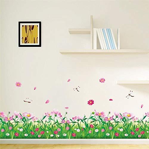 Cosmoses recinzioni fiori battiscopa decalcomanie per la casa adesivi decorativi 3d tatoo fai da te room mural art