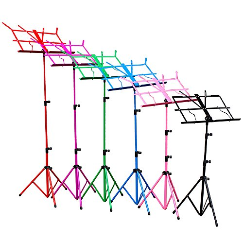 hsr-colourful-metal-folding-sheet-music-stand-holder-tripod-base-foldable-carry-case-black