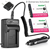 Kastar Camera Batteries (Pack Of 2) With Travel Charger Kit For Sony NP-FT1 NPFT1 & Sony DSC-L1