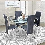 Royaloak Sonat Four Seater Dining Table Set (Black)