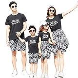 DAHDXD Famille Correspondant vêtements père mère Fille Fils mère Maman et Moi vêtements Robe de Plage Tshirts Pantalon Couple Famille Look Usure