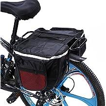 Cocoarm 25L Bolsa Trasera Bicicleta, Alforja para Sillín de Bicicleta, Impermeable y Multifunción Bolsa