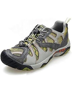 Mens / Ladies mesh scarpe da trekking scarpe da acqua di moda estiva leggero e traspirante , green , 35