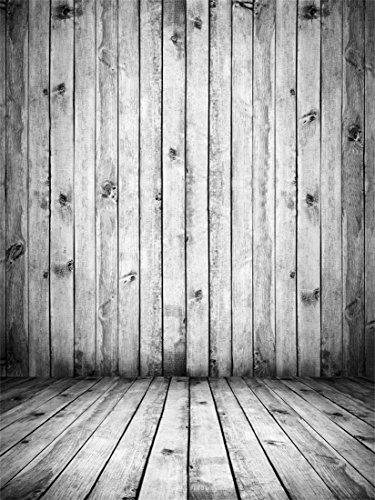 YongFoto 2,5x3m Foto Hintergrund Holz Weiß Innenraum mit Holzdielen und Holzwand Jahrgang Leer Holzinnenraum Fotografie Hintergrund Fotoshooting Portraitfotos Fotografen Kinder Fotostudio Requisiten