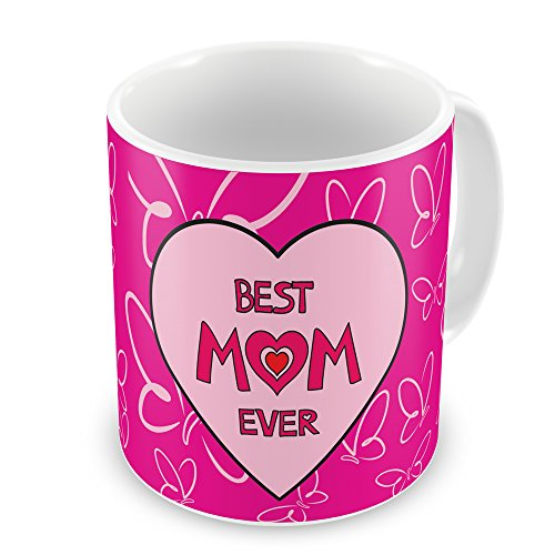 indibni Best Mom Ever Printed Mug 325 ml - Pink - House Warming Gift for Mom Mother in law Mother to be on her Birthday Anniversary Mothers Day Everyday Home Decor  available at amazon for Rs.299