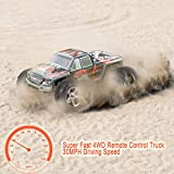 Enlarge toy image: RC Car, Distianert 9300 Electric RC Car Offroad Remote Control Car RC Monster Truck RTR 1:18 Scale 2.4Ghz 4WD High Speed 30MPH with Two Rechargeable Batteries