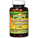 Dynamic Health Tart Cherry Complete with Cherry Pure Vegetable Capsules - Pack of 60 Capsules by Dynamic Health Laboratories Inc