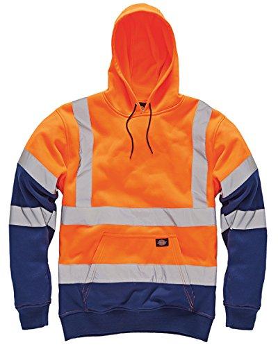 Dickies Herren Workwear Hallo Sichtbarkeit Sweatshirt Zwei Tone Hoodie 4X-Large Orange/Navy -