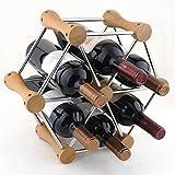 AN De haute qualité bois multi-usages porte-bouteilles de mode beau casier à vin maison restaurant casier à vin décoration,UNE,37 * 14 * 33cm