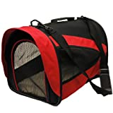 Best Pet Carrier Crate with Fleece Mat and Food Bag