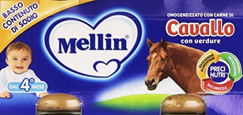 Mellin - Omogeneizzato, con Carne di Cavallo con Verdure - 160 grams