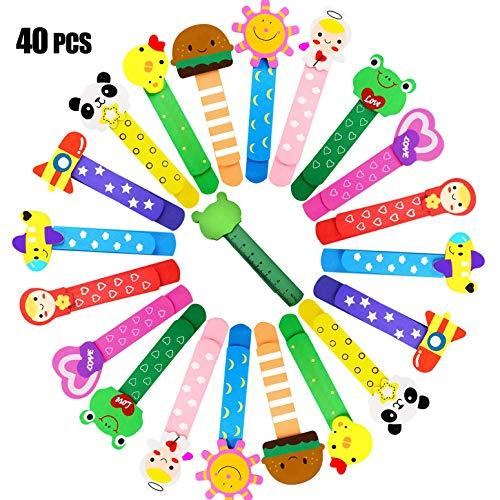 ZOCONE Animali Segnalibro Coloratissimi, 40 Pezzi Segnalibro Legno Segnalibro Bambini Segnalibro Animali, Legno Regalino Gadget Festa Compleanno Bambini