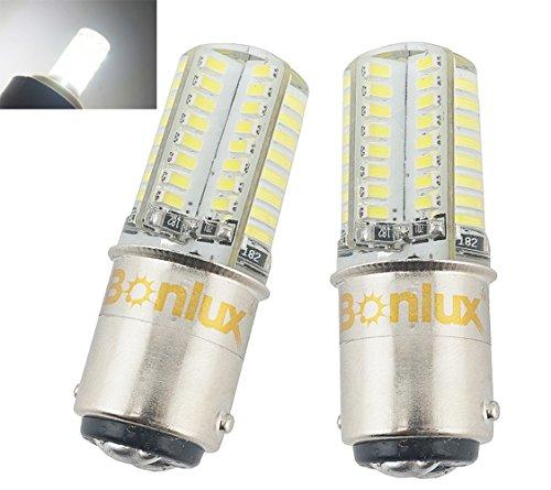 Bonlux Ba15d LED Birne Kühlweiß 6000K 3W DC/AC 12V Doppelkontakt Bajonett SBC Ba15d 1141 1156 1073 1093 1129 LED Lampe für Innen-RV Camper-Beleuchtung (2-Stück) (Rv Led-lampen)