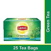 Lipton Mint Burst Green Tea Bags, 25 Pieces
