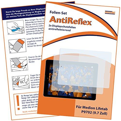 Preisvergleich Produktbild 2 x mumbi Displayschutzfolie für Medion Lifetab P9702 / Lifetab P9701 Schutzfolie AntiReflex matt