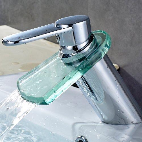 Auralum Glas Wasserhahn Spüle Armatur Waschtischarmatur Badenzimmer und Küchen