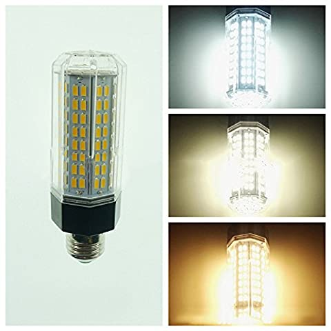 LanLan Home Energy Saving Lamps with Aluminium Base 144 LEDs Corn Light Bulb E27 LED Lamp 110-265V 15W 5730 SMD Warm White