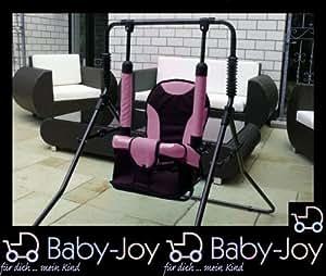 HH-03 Baby-Joy Balançoire HANNA Balançoire pour enfants Maintenez saisis Bordeaux Rose