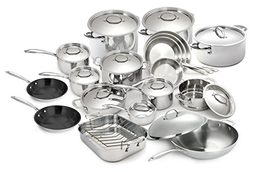 Cuisinox POT-400 Super Elite Kochgeschirr-Set, 30-teilig, 76,2 x 101,6 x 61 cm, silberfarben