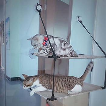 Myyxt Perche de fenêtre de chat Confortable Confortable Lit Stable Siège ensoleillé