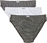 Fruit of the Loom Herren Slip 3 er Pack 170126, Gr. 6 (L), Mehrfarbig (SQ black stripe pack)