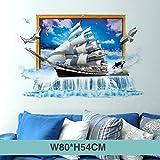 HAOLY 3D Stéréo Autocollant Mural, Chambre Au Plafond Star Autocollant, Papier Peint, Dortoir Grand Auto-adhésif Décorative Papier Peint-s 80x54cm(31x21inch)
