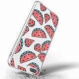 Inonler TPU souple transparente de la pastèque rouge délicieux fruits d'été coque pour iPhone SE, pour iPhone 5, coque Violet