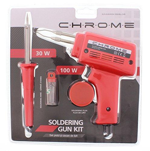 WELL Gun and SOLDERING Iron Kit, Chrome, 1 Stück, SLD-GUN/IRON-100W/BL-CHR