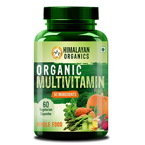 Himalayan Organics Organic Multivitamin with 60+ Certified Organic Extracts - 60 Vegetarian Capsules (60)