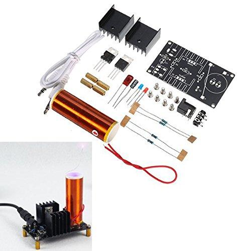 Bluelover DC 15-24 V 2A DIY Elektronische Mini Musik Tesla Spule Plasma Horn Lautsprecher Kit Produzieren Arc Music Player funktion (Elektronische Regale)