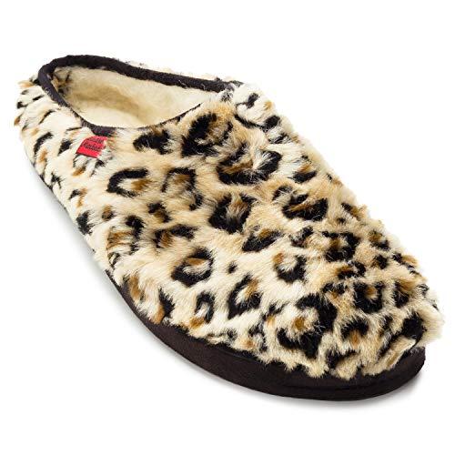 Zapatillas Pelo Largo Estampado Leopardo.36