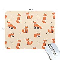 COOSUN Fox Pattern Mouse Pads Non-Slip Rubber Backing Gaming Mouse Pad Mat