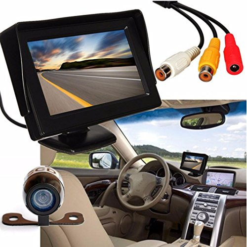 BBring 4.3'' LCD Car Rear View Monitor Night Vision Reverse Backup Camera Waterproof