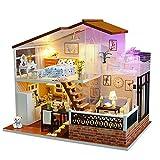 En bois Maison De Poupée Modèle Ensemble Meubles Décoration LED Lumière Mini Chalet Modèle Ensemble Cadeau De Noël Saint Valentin Créatif Anniversaire Creative Cabine DIY Un M