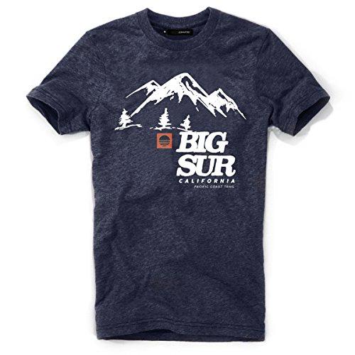 DEPARTED Herren T-Shirt mit Print/Motiv 3817-050 - New fit Größe L, Navy Melange -