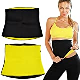 Mark Ample Unisex Neoprene Body Shaper for Waist Fitness Belt (XXL_Black)