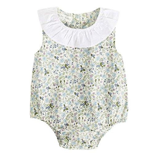 g für Neugeborene, Babykleidung für Jungen und Mädchen, Blumenmuster, Babyoutfit 6-12Months grün (Gute Dress Up Party Kostüm Ideen)