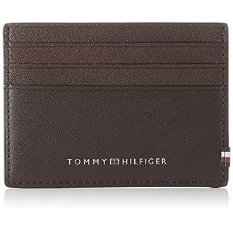 Tommy Hilfiger Herren Textured Cc Holder Geldbörse, Mehrfarbig (Testa Di Moro), 0.1x0.1x0.1 centimeters