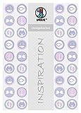 Ursus 62334601F Designkarton, Meine Taufe, Mädchen, 200 g/Qm, Din A4, 5 Blatt, Motiv 1