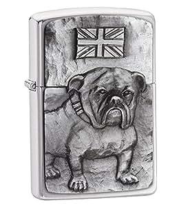 Zippo Briquet Bulldog anglais dans une boîte de présentation noire