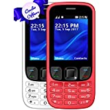 I KALL K6303 Dual Sim 2.4 Inch Display COMBO OF TWO Basic Mobile Feature Phone With 1800 Mah Battery Capacity, Bluetooth, GPRS, Flash Light, FM- White & Red