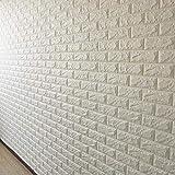 Viel Spaß beim Lernen 3D Stereo Brick Muster Wandaufkleber Weiß selbstklebende Tapete Ornamente