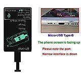 Qi Empfänger, Intsun Wireless Charging, Qi Receiver, Ladegerät Empfänger,Handy Empfänger für HTC ONE X9, E9, Vivo X1 und andere Mobiltelefone/Schmale Schnittstelle runter/Type-B